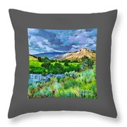Rain Clouds On The Way To Sweetwater Throw Pillow