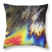 Rainbow Explosion Throw Pillow