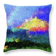 Rainbow Mountain - Breaking The Gridlock Of Hate Number 5 Throw Pillow