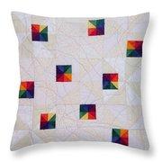 Rainbow Pinwheel Throw Pillow