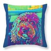 Rainbow Pup Throw Pillow