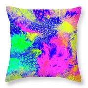 Rainbow Radiance Throw Pillow