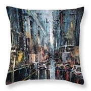 Rainy Expression Throw Pillow