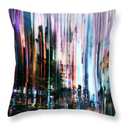 Rainy Street Throw Pillow