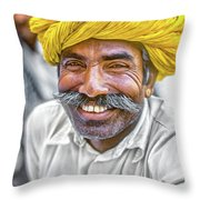 Rajput High School Teacher Throw Pillow
