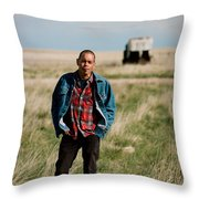 Ranch Boss Throw Pillow by Carl Young