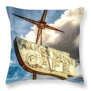 Ranch House Cafe Throw Pillow by Lou Novick