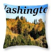 Randle Washington In Fall 02 Throw Pillow