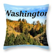 Randle Washington In Fall 02 Throw Pillow