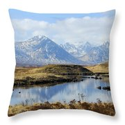 Rannoch Moor In Winter Throw Pillow