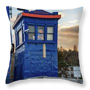 Rapunzel In Seattle's Fremont District Throw Pillow