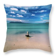 Raspins Beach In Orford On The East Coast Of Tasmania. Throw Pillow