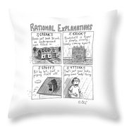 Rational Explanations Throw Pillow