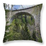 Ravenna Gorge Viaduct 05 Throw Pillow
