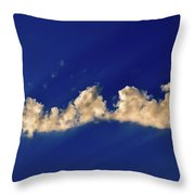 Rays And Clouds  Throw Pillow