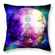 Reach Out To The Stars Throw Pillow by Bee-Bee Deigner