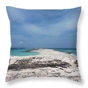 Reaching Out To Ibiza Throw Pillow