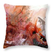 Red Abstract Art - The Vineyard - Sharon Cummings  Throw Pillow