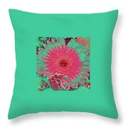 Red And Green Bloom Throw Pillow
