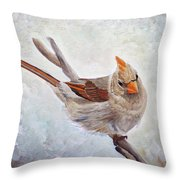 Red Bill Beauty Throw Pillow