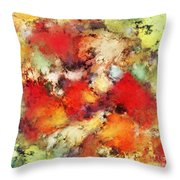 Red Colour Identity Throw Pillow