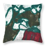 Red Detachment Of Women Painting Throw Pillow