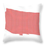 Red Dot Map Of Arizona Throw Pillow