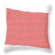 Red Dot Map Of Colorado Throw Pillow