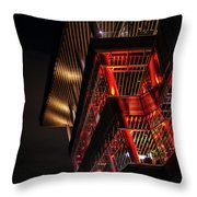 Red For Ted At The Convention Centre Throw Pillow by Ross G Strachan