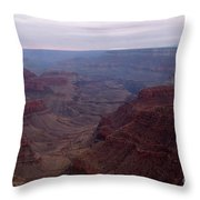 Red Grand Canyon Throw Pillow