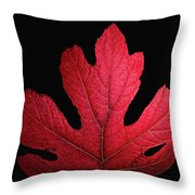 Red Leaf Art Throw Pillow