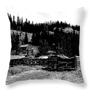 Red Lion Ghost Town Montana Throw Pillow