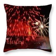 Red Over Niagara Falls Throw Pillow