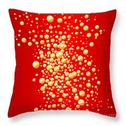 Red Party Bubble Background Throw Pillow