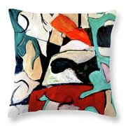 Red Remains Throw Pillow