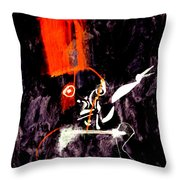 Red Room Zoom Throw Pillow