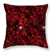 Red Spider Bokeh Pattern Throw Pillow