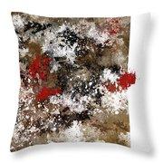 Red Splashes Throw Pillow