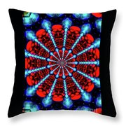 Red Steel Throw Pillow