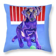 Red, White And Blue Waiting For You Throw Pillow