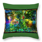 Redbird Singing Songs Of Love In The Tree Of Hope Throw Pillow