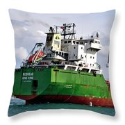 Redhead Freighter Throw Pillow