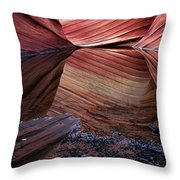 Reflection Of Cliffs In Water Throw Pillow