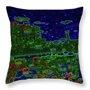 Reflections Of A Green Land 2 Throw Pillow