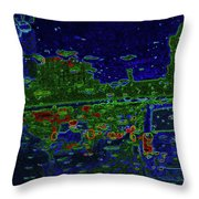 Reflections Of A Green Land Throw Pillow