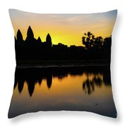 Reflections Of Angkor Throw Pillow