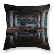 Reflections Of Decay Throw Pillow