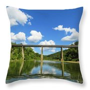 Reflections Of The Ozarks Throw Pillow