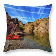 Reflections On The Colorado River Throw Pillow