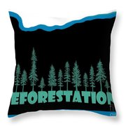 Reforestation Throw Pillow